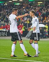 Leon GORETZKA, DFB 19 celebrates with Niklas SUELE, DFB 6 <br /> Germany - Azerbaijan 5-1<br /> FIFA World Championships Qualifiers  am 08.10.2017 in Kaiserslautern, Germany. *** Local Caption *** © pixathlon +++ tel. +49 - (040) - 22 63 02 60 - mail: info@pixathlon.de