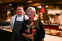 MELBOURNE, 30 June 2017 – Barry Davis and Rita Erlich at a dinner celebrating Philippe Mouchel's 25 years in Australia with six chefs who worked with him in the past at Philippe Restaurant in Melbourne, Australia.