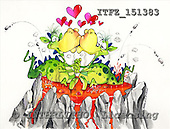 Fabrizio, CUTE ANIMALS, comic, paintings, ITFZ151383,#AC# illustrations pinturas ,everyday