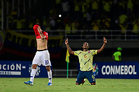 PEREIRA - COLOMBIA, 30-01-2020: Andres Balanta de Colombia celebra después del partido entre Colombia U-23 y Chile U-23 de la fecha 5, grupo A, del CONMEBOL Preolímpico Colombia 2020 jugado en el estadio Hernán Ramírez Villegas de Pereira, Colombia. / Andres Balanta of Colombia celebrates after the match between Colombia U-23 and Chile U-23 of the date 5, group A, for the CONMEBOL Pre-Olympic Tournament Colombia 2020 played at Hernan Ramirez Villegas stadium in Pereira, Colombia. Photo: VizzorImage / Cristian Alvarez / Cont