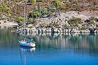 A yacht in Poros island, Greece