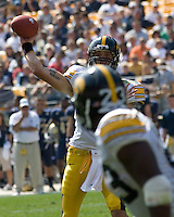 September 20, 2008: Iowa quarterback Ricky Stanzi. The Pitt Panthers defeated the Iowa Hawkeyes 21-20 on September 20, 2008 at Heinz Field, Pittsburgh, Pennsylvania.