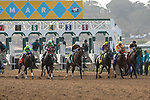"""DEL MAR, CA  JULY 28:  The start of the Clement L Hirsch Stakes (Grade 1) a Breeders' Cup """"Win and You're In"""" Distaff Division (Photo by Casey Phillips/Eclipse Sportswire/CSM)"""