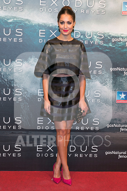 """Hiba Abouk attend the Premiere of the movie """"EXODUS: GODS AND KINGS"""" at callao Cinema in Madrid, Spain. December 4, 2014. (ALTERPHOTOS/Carlos Dafonte)"""