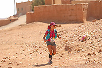 5th October 2021; Kourci Dial Zaid to Jebel El Mraier ; Tomomi Bitoh (JPN) Marathon des Sables, stage 3 of  a six-day, 251 km ultramarathon, which is approximately the distance of six regular marathons. The longest single stage is 91 km long. This multiday race is held every year in southern Morocco, in the Sahara Desert.