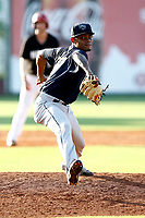 Mobile BayBears pitcher Adrian Almeida (37) throws a pitch in a game against the Chattanooga Lookouts on June 3, 2018 at AT&T Field in Chattanooga, Tennessee. (Andy Mitchell/Four Seam Images)