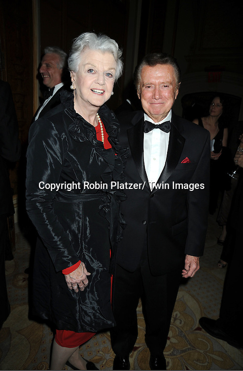 honorees Angela Lansbury and Regis Philbin attends The 2011 Living Landmarks Celebration presented by The New York Landmarks Conservancy on .November 2, 2011 at The Plaza Hotel in New York City.  .The honorees are Lewis B Cullman, Louise Kerz Hirschfeld, Angelia Lansbury, Danny Meyer and Regis Philbin.