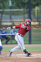 Jose Herrera (33) of the AZL Diamondbacks bats during a game against the AZL Dodgers at the Los Angeles Dodgers Spring Training Complex on July 3, 2015 in Glendale, Arizona. Diamondbacks defeated the Dodgers, 5-1. (Larry Goren/Four Seam Images)