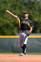 Pittsburgh Pirates infielder Douglas Crumlich (32) during a minor league spring training intrasquad game on March 30, 2014 at Pirate City in Bradenton, Florida.  (Mike Janes/Four Seam Images)
