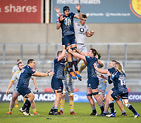 27th December 2020; AJ Bell Stadium, Salford, Lancashire, England; English Premiership Rugby, Sale Sharks versus Wasps; JP du Preez of Sale Sharks wins a line out
