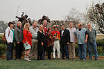 Winners circle after the running of the Rebel Stakes (Grade II) at Oaklawn Park in Hot Springs, Arkansas-USA on March 15, 2014. (Credit Image: © Justin Manning/Eclipse/ZUMAPRESS.com)