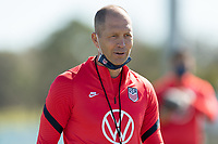 BRADENTON, FL - JANUARY 19: Gregg Berhalter laughs with teammates during a training session at IMG Academy on January 19, 2021 in Bradenton, Florida.