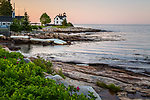 Prospect Harbor Light in Prospect Harbor, Gouldsboro, Maine, USA