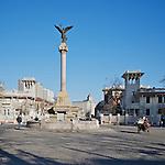 Buildings And Statue On The Piazza Regina Elena, Former Italian Concession, Tianjin (Tientsin).