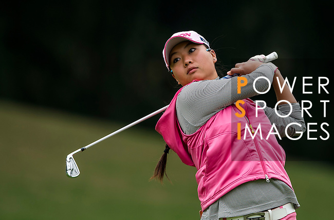 Chieh Peng of Chinese Taipei in action during the Hyundai China Ladies Open 2014 on December 12 2014 at Mission Hills Shenzhen, in Shenzhen, China. Photo by Li Man Yuen / Power Sport Images