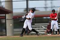Francisco Reynoso (65) of Colegio Angel David High School in San Juan, Puerto Rico during the Under Armour Baseball Factory National Showcase, Florida, presented by Baseball Factory on June 12, 2018 the Joe DiMaggio Sports Complex in Clearwater, Florida.  (Nathan Ray/Four Seam Images)