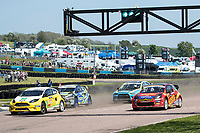 The second semi final heat of the Supercars gets underway during the 5 Nations BRX Championship at Lydden Hill Race Circuit on 31st May 2021