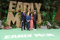 """Tom Hiddlestone, director Nick Park Maisie Williams and Eddie Redmayne<br /> arriving for the """"Early Man"""" world premiere at the IMAX, South Bank, London<br /> <br /> <br /> ©Ash Knotek  D3369  14/01/2018"""