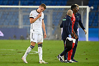 6th August 2020, Basel, Switzerland. UEFA National League football, Switzerland versus Germany;  Breel Embolo, SUI, with coach, Matthias Ginter, GER