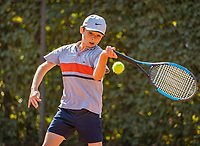 Hilversum, Netherlands, Juli 29, 2019, Tulip Tennis center, National Junior Tennis Championships 12 and 14 years, NJK, Maurits Tukker (NED)<br /> Photo: Tennisimages/Henk Koster