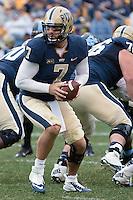 Pitt quarterback Tom Savage. The North Carolina Tar Heels defeated the Pitt Panthers 34-27 at Heinz Field, Pittsburgh Pennsylvania on November 16, 2013.