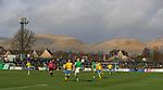 09.02.2020 BSC Glasgow v Hibs: Greg Docherty controls the ball