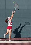 Esperanza tennis player races back to make a desperate backhand