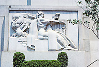 "Philadelphia: U.S. Post Office Annex. Stone relief ""Justice and Law II"" by Donald De Lue.  Photo '88."