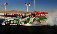 "Jan 20, 2007; Las Vegas, NV, USA; NHRA Funny Car driver Ashley Force does a burnout during preseason testing at ""The Strip"" at Las Vegas Motor Speedway in Las Vegas, NV. Mandatory Credit: Mark J. Rebilas"