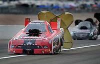 Nov. 1, 2008; Las Vegas, NV, USA: NHRA funny car driver Bob Tasca III during qualifying for the Las Vegas Nationals at The Strip in Las Vegas. Mandatory Credit: Mark J. Rebilas-