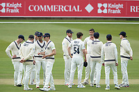 The Middlesex players congratulate Tim Murtagh on the wicket of Higgins during Middlesex CCC vs Gloucestershire CCC, LV Insurance County Championship Group 2 Cricket at Lord's Cricket Ground on 7th May 2021