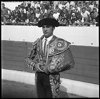 15 Septembre 1968. Vue du torero Tinin dans les arènes de Toulouse.