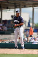 New York Yankees relief pitcher Albert Abreu (87) gets ready to deliver a pitch during a Grapefruit League Spring Training game against the Detroit Tigers on February 27, 2019 at Publix Field at Joker Marchant Stadium in Lakeland, Florida.  Yankees defeated the Tigers 10-4 as the game was called after the sixth inning due to rain.  (Mike Janes/Four Seam Images)