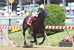 May 16, 2015: Fame and Power, Martin Garcia up, wins the Sir Barton Stakes at Pimlico Race Course in Baltimore, MD. Trainer is Bob Baffert; owner is Juddmonte Farm. Joan Fairman Kanes/ESW/CSM