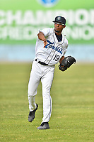 Asheville Tourists pitcher Derrik Watson (19) before a game against the Lexington Legends at McCormick Field on May 25, 2018 in Asheville, North Carolina. The Tourists defeated the Legends 6-4. (Tony Farlow/Four Seam Images)