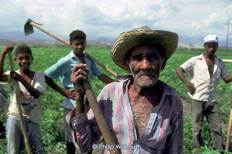 Haitian migrant field-workers, Dominican Republic.