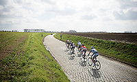 escape group through the Holleweg<br /> <br /> 58th E3 Harelbeke 2015