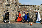 Mayoring Ceremony Winchelsea  Incoming Mayor Dr John Spencer, and Mrs Ann Spencer. (Lady Mayoress?  in blue suit)  with deputy ??? 2015
