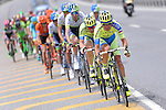 Action from the pack during the closing kilometres of Stage 7 of the 2015 Presidential Tour of Turkey running 166km from Selcuk to Izmir. 2nd May 2015.<br /> Photo: Tour of Turkey/Mario Stiehl/www.newsfile.ie