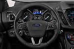 Car pictures of steering wheel view of a 2017 Ford Kuga Titanium 5 Door SUV Steering Wheel