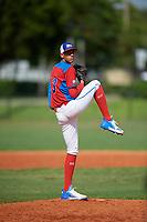 Wilmer Ramirez (13) during the Dominican Prospect League Elite Florida Event at Pompano Beach Baseball Park on October 14, 2019 in Pompano beach, Florida.  Wilmer Ramirez (13).  (Mike Janes/Four Seam Images)