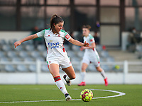 Luna Vanzeir (10) of OHL in action during a female soccer game between Oud Heverlee Leuven and Racing Genk on the 14 th matchday of the 2020 - 2021 season of Belgian Womens Super League , sunday 28 th of February 2021  in Heverlee , Belgium . PHOTO SPORTPIX.BE | SPP | SEVIL OKTEM