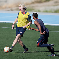 Assistant Coach Paul Caffrey and Stefan Jerome training. 2009 CONCACAF Under-17 Championship From April 21-May 2 in Tijuana, Mexico