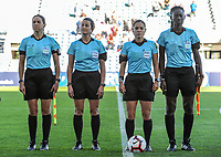 20200310 Faro , Portugal : the referees pictured before the female football game between the national teams of New Zealand and Norway on the third matchday of the Algarve Cup 2020 , a prestigious friendly womensoccer tournament in Portugal , on Tuesday 10 th March 2020 in Faro , Portugal . PHOTO SPORTPIX.BE | STIJN AUDOOREN