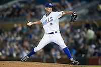 Durham Bulls relief pitcher Grant Balfour (34) in action against the Scranton/Wilkes-Barre RailRiders at Durham Bulls Athletic Park on May 15, 2015 in Durham, North Carolina.  The RailRiders defeated the Bulls 8-4 in 11 innings.  (Brian Westerholt/Four Seam Images)