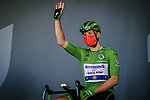 Green Jersey Irish Champion Sam Bennett (IRL) Deceuninck-Quick Step at sign on before Stage 6 of Tour de France 2020, running 191km from Le Teil to Mont Aigoual, France. 3rd September 2020.<br /> Picture: ASO/Pauline Ballet | Cyclefile<br /> All photos usage must carry mandatory copyright credit (© Cyclefile | ASO/Pauline Ballet)