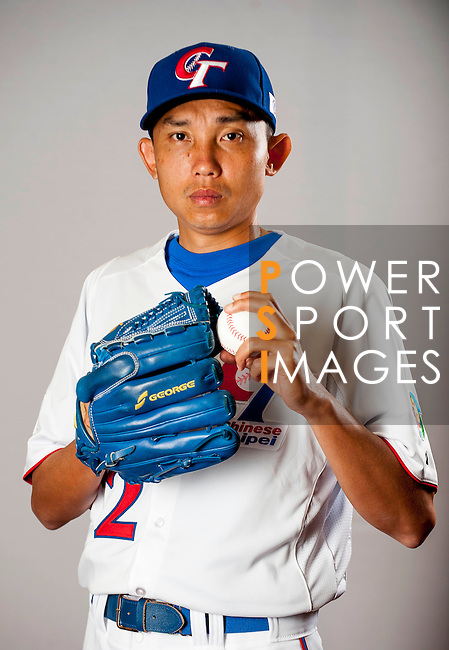 Huang, Chin-Chih of Team Chinese Taipei poses during WBC Photo Day on February 25, 2013 in Taichung, Taiwan. Photo by Victor Fraile / The Power of Sport Images