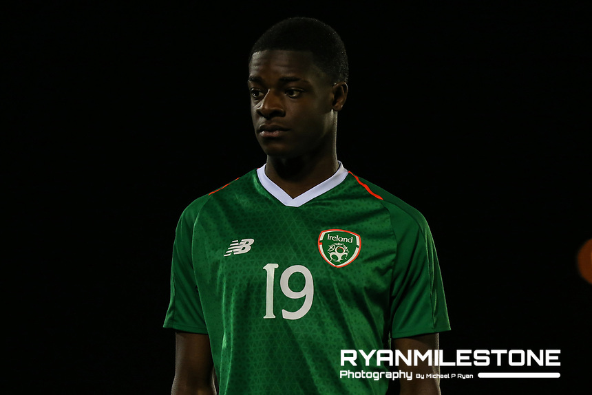 International Friendly<br /> Rep of Ireland U17 v Finland U17<br /> Friday 22nd March 2019,<br /> RSC, Waterford.<br /> Ademipo Odubeko of Republic of Ireland.<br /> Mandatory Credit: Michael P Ryan