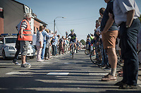 people lined up to let the riders through to the start<br /> <br /> 12th Eneco Tour 2016 (UCI World Tour)<br /> Stage 6: Riemst › Lanaken (185km)