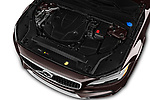 Car stock 2018 Volvo V90 Corss Country Pro 5 Door Wagon engine high angle detail view
